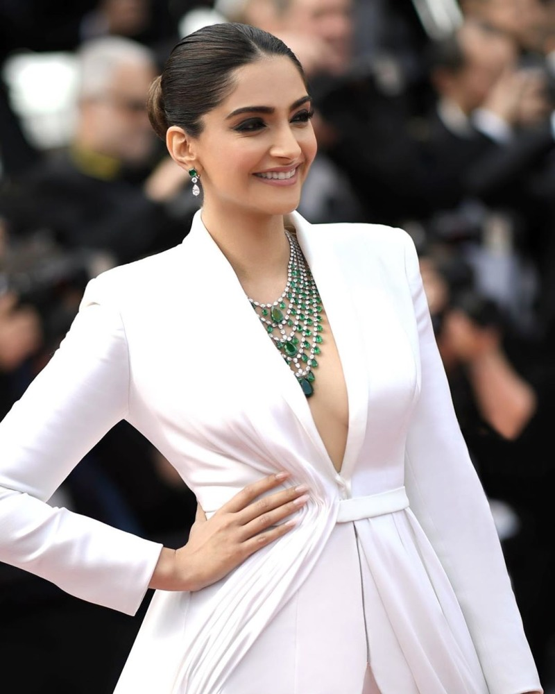 Sonam Kapur in Green Emeralds - Gem Therapy
